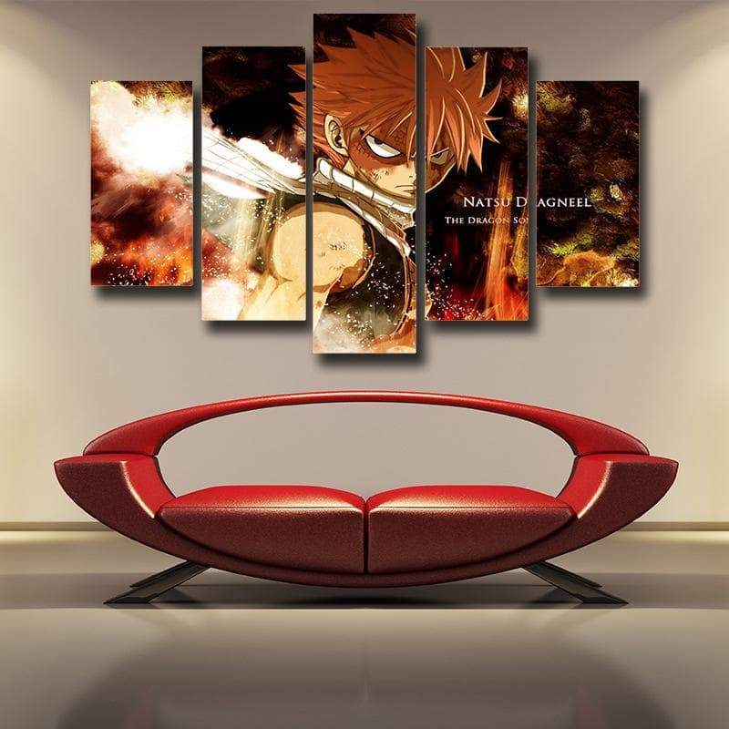 Natsu Dragneel Face Fairy Tail Canvas 3D Printed - Anime Wise