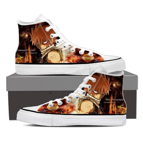 Flat Converse Natsu Son of Dragon Fairy Tail Sneaker Shoes - Anime Wise