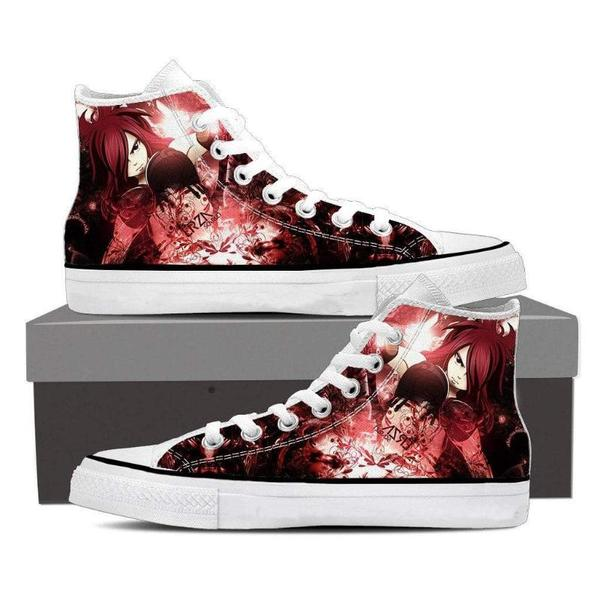 Hip Hop Club Magnolia Customized Hot Erza Scarlet Fairy Tail Sneaker Shoes - Anime Wise