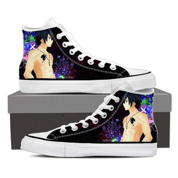Cosmos Magnolia Customized Gray Fullbuster Fairy Tail Sneaker Shoes - Anime Wise