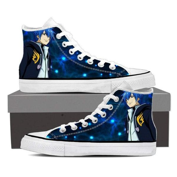 Blue Magnolia Customized Jellal Fairy Tail Sneaker Shoes - Anime Wise