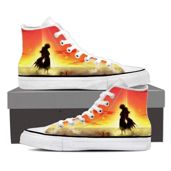 Lucy and Natsu Magnolia Customized Fairy Tail 3D Printed Sneaker Shoes - Anime Wise