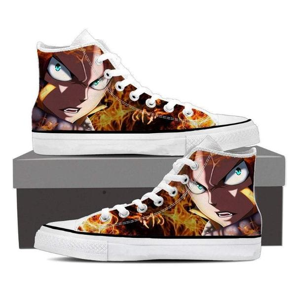 Dragon Fire Natsu Converse Unisex 3D Printed Fairy Tail Shoes - Anime Wise