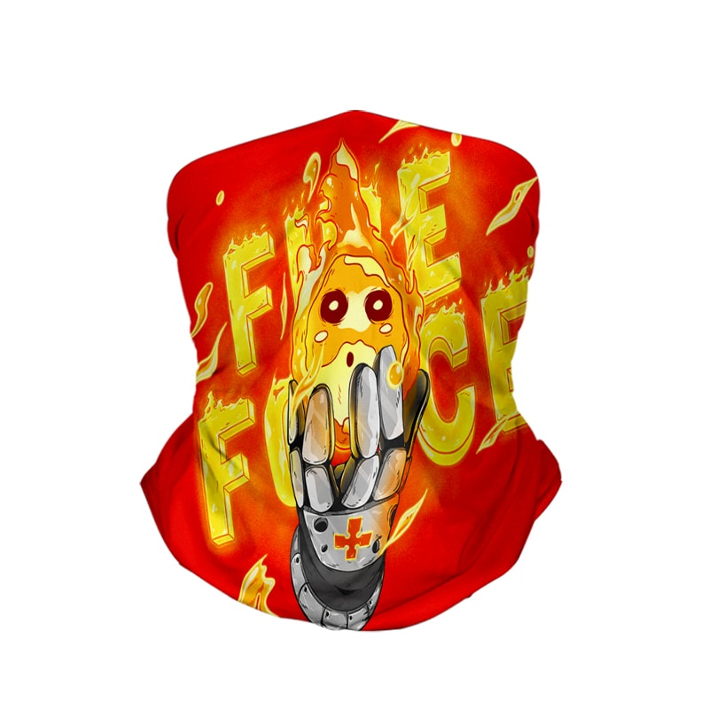 Fire Force Ball of Fire Neck Gaiter Face Shield Bandanna Scarf