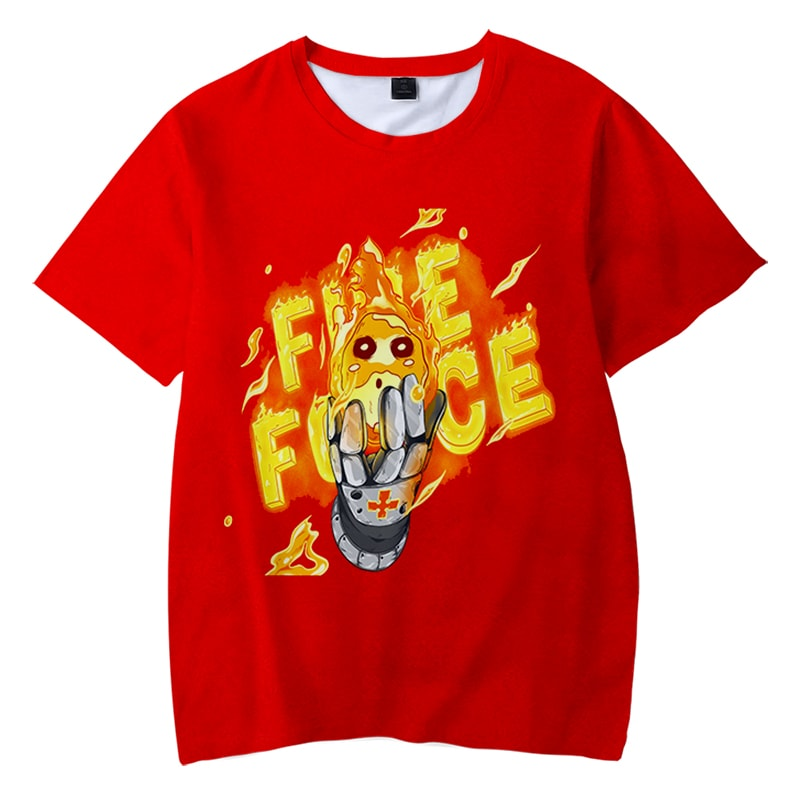 Fire Force Ball of Fire Company Eight Casual Fire Force T-Shirt