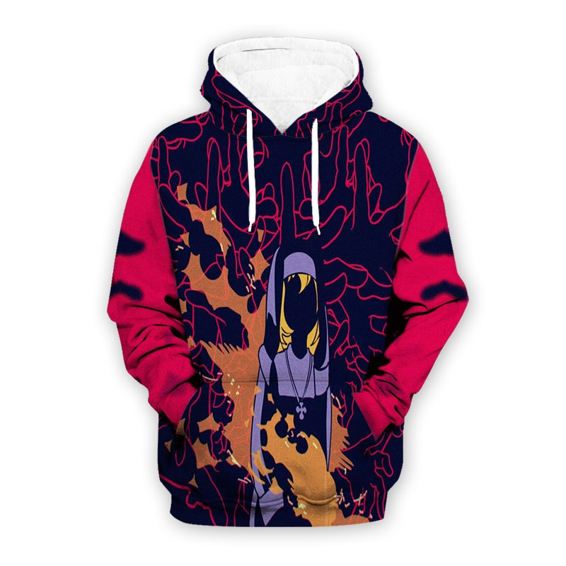 Fire Force 6 Iris Cool Abstract Art Fire Force Hoodie