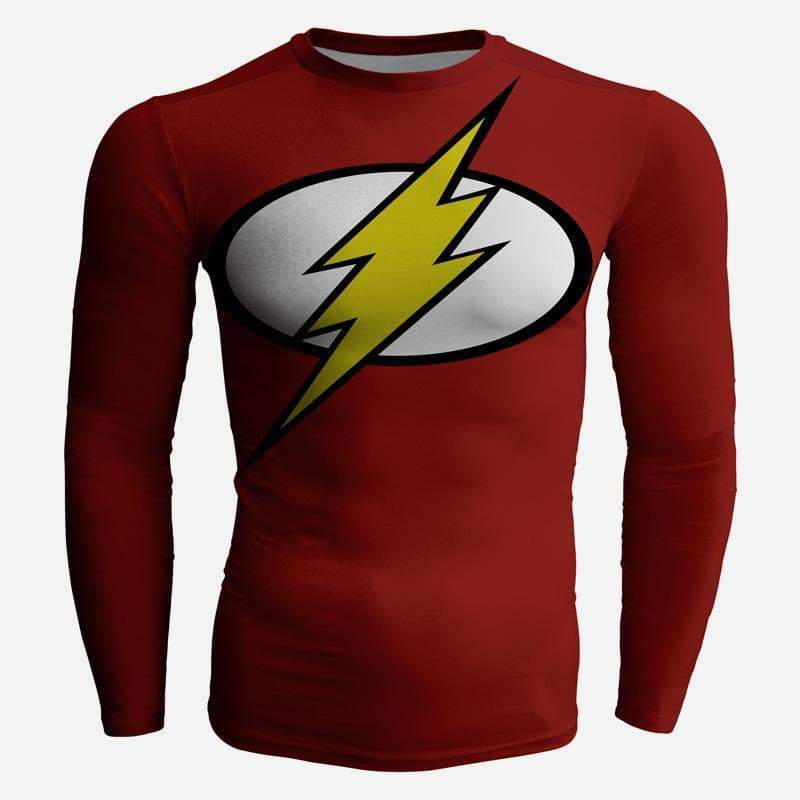 Flash Costume Red 3D Printed Long Sleeve Shirt