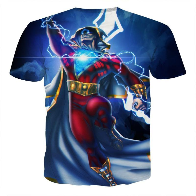 Flying Blue Shazam T Shirt