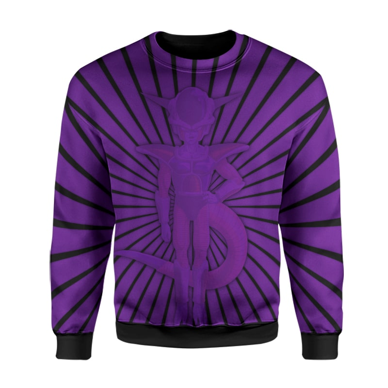 Frieza Universe Emperor Sleek Crossover Lines Dragon Ball Sweatshirt
