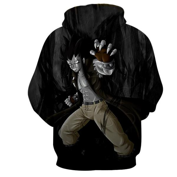 Gajeel Iron Black Magic Dragon Fairy Tail 3D Printed Zip Up Hoodie - Anime Wise
