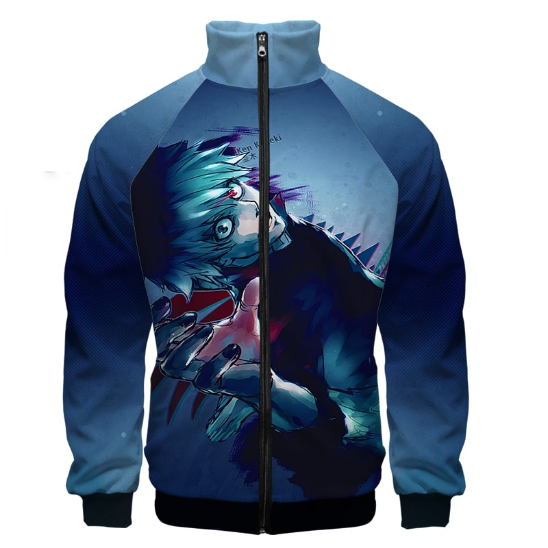Ghoul Ken Kaneki Lust For Blood Tokyo Ghoul Zip Up Sweatshirt Jacket