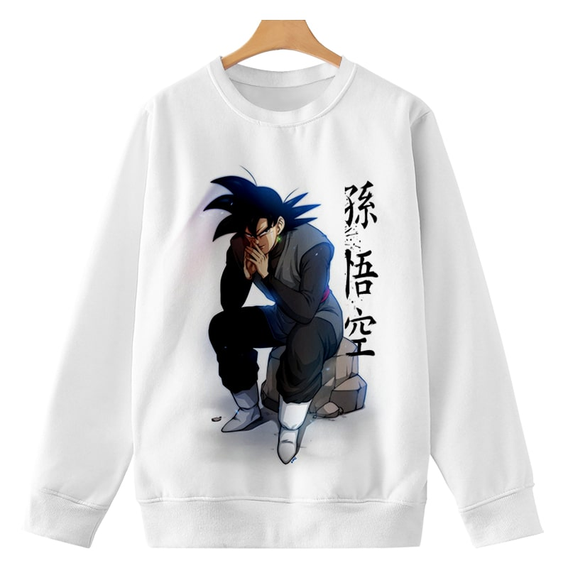 Goku Black Super Saiyan Rock Pose Dragon Ball Sweatshirt