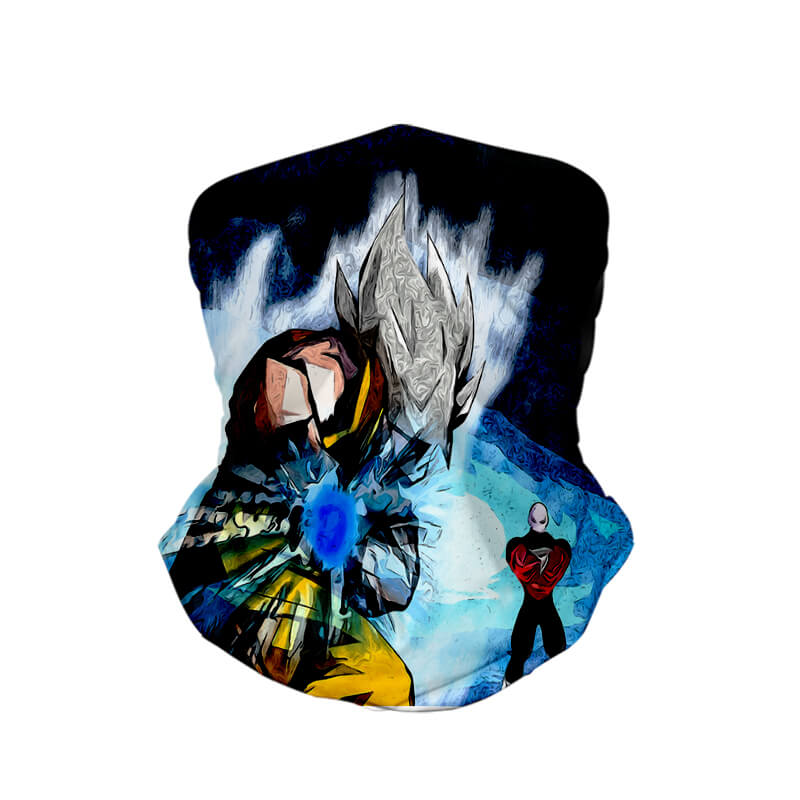 Goku Jiren Saiyan Art Double Brushed Dragon Ball Neck Gaiter Face Shield Bandanna Scarf