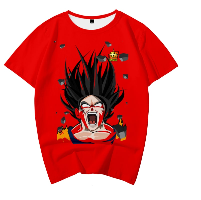 Goku SSJ5 Supersoft Blending Casual Round Collar Dragon Ball T-Shirt