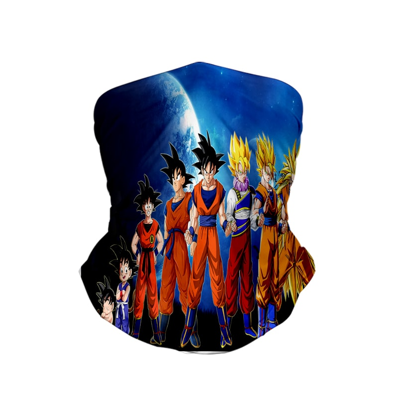 Goku Super Saiyan Evolution Neck Gaiter Face Shield Bandanna Scarf