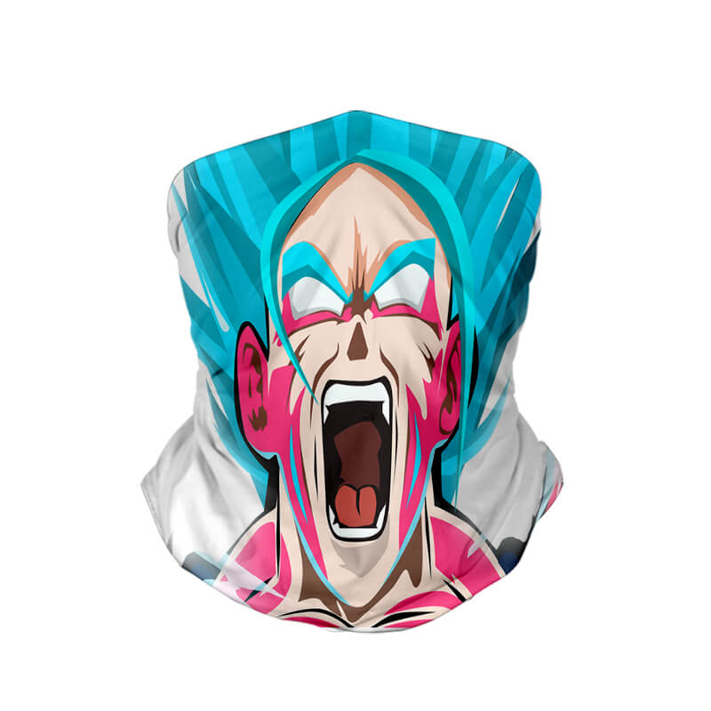 Goku Ultra Intrinsic Super Saiyan Dragon Ball Neck Gaiter Face Shield Bandanna Scarf