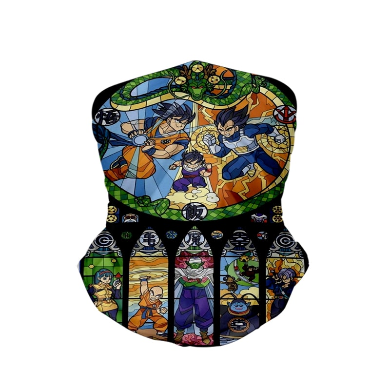 Goku Vageta Norte Dom Fight Art Dragon Ball Neck Gaiter Face Shield Bandanna Scarf