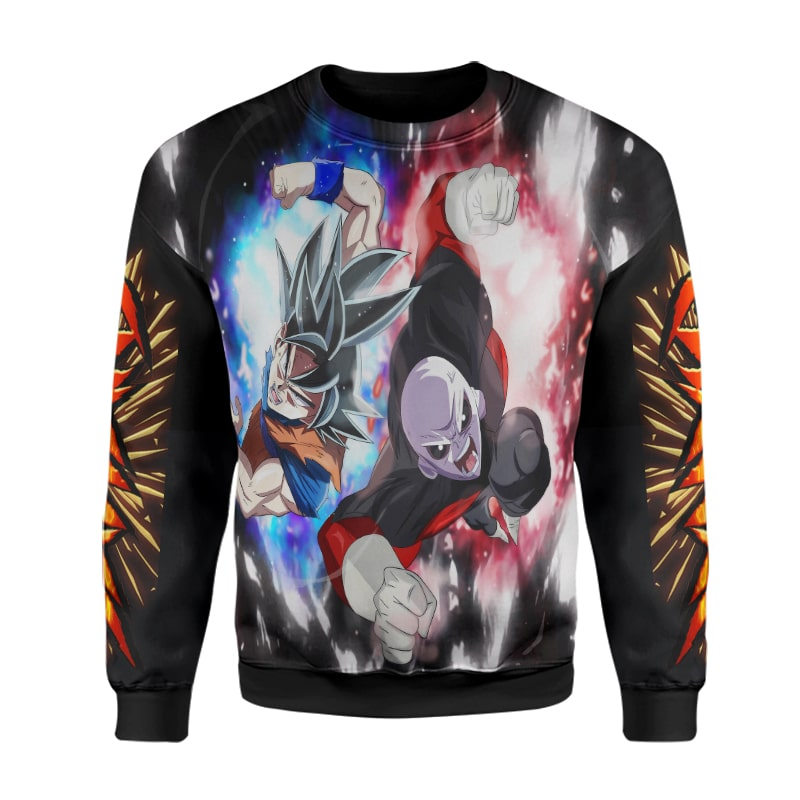 Goku Jiren Fighting Saiyans Sleeve Blend Cool Dragon Ball Super Sweatshirt