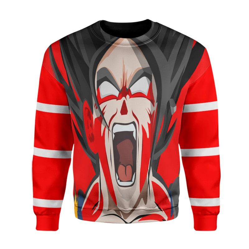 Goku SSJ5 Super Scream Microfiber Blending  Dragon Ball Super Sweatshirt
