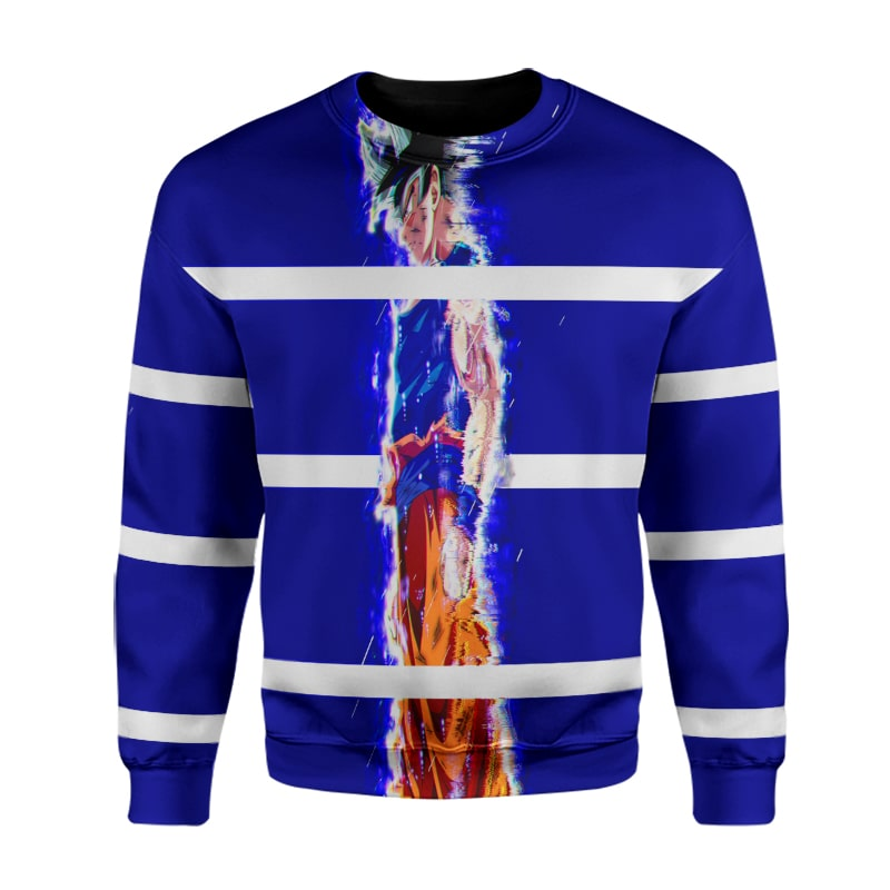 Goku Super Saiyan Sleek Blue Lines Dragon Ball Sweatshirt