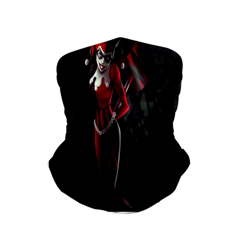 Harley Quinn Class Black Neck Gaiter Face Shield Bandanna Scarf