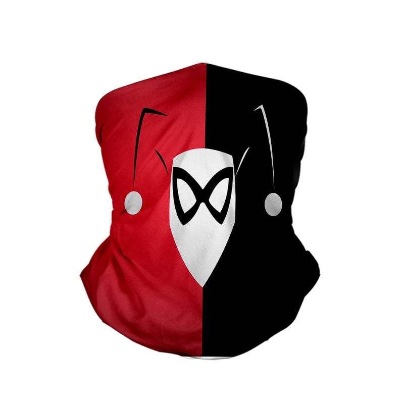 Harley Quinn Classic Colors Neck Gaiter Face Shield Bandanna Scarf