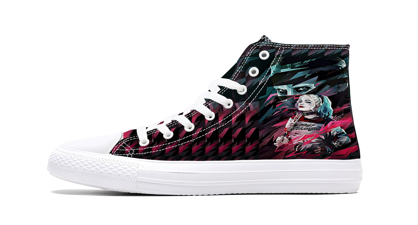 Harley Quinn Joker Color Splatter Cool Comfortable Suicide Squad Shoes