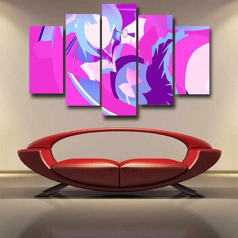 Hatsune Miku Abstract Art Paint Splatter Vocaloid 3D Canvas