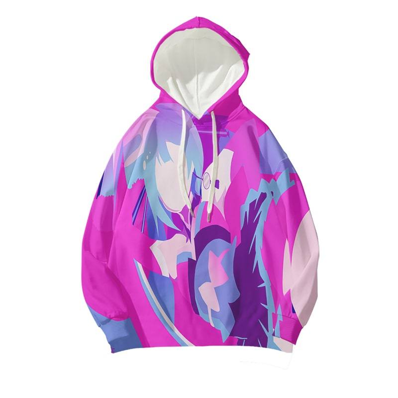 Hatsune Miku Abstract Art Paint Splatter Vocaloid Hoodie