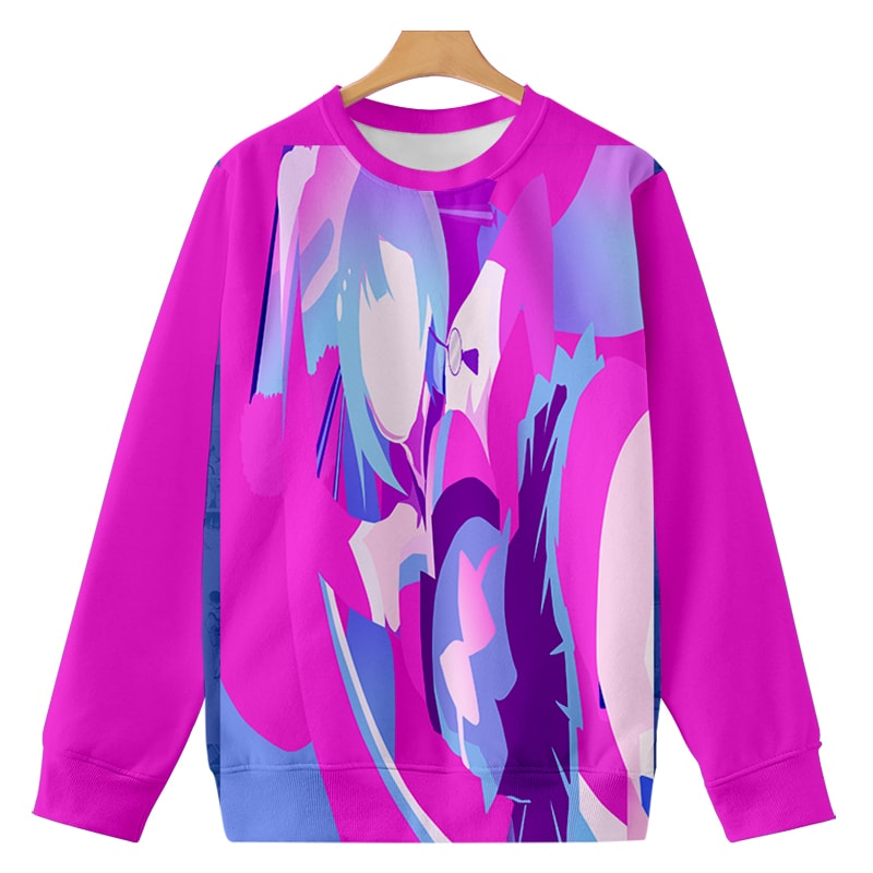 Hatsune Miku Abstract Art Paint Splatter Vocaloid Sweatshirt