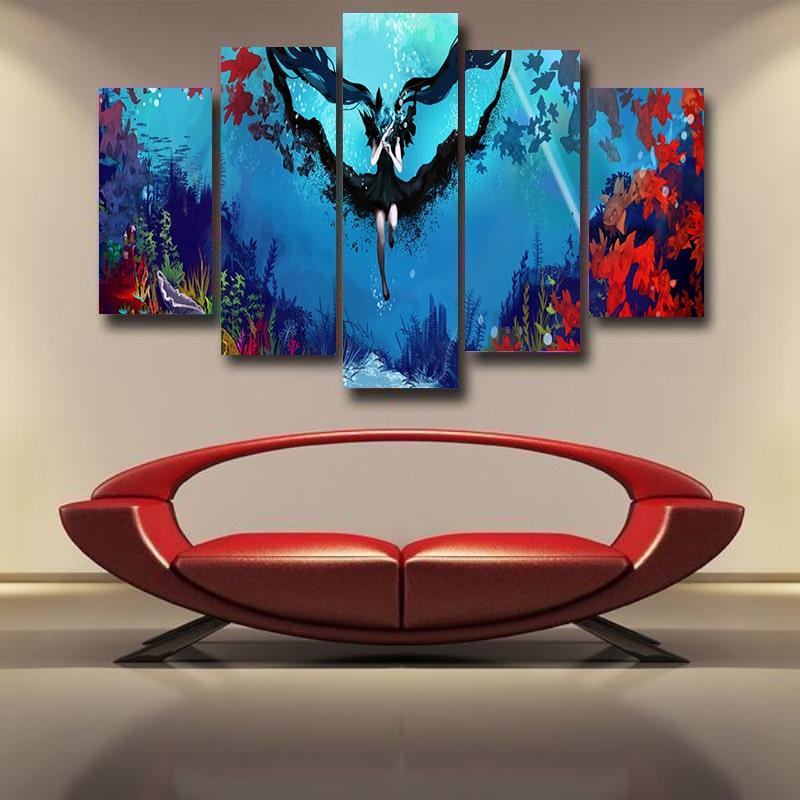 Hatsune Miku Deep Sea Floral Princess Vocaloid 3D Canvas
