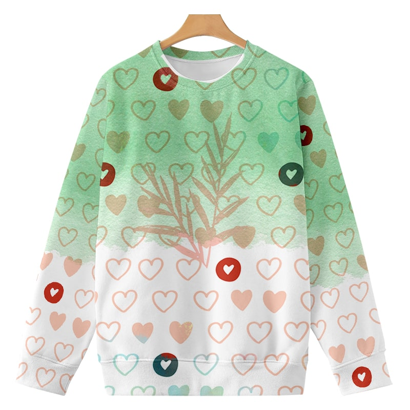 Heart Color Overlap Cute Love Premium Brushed Sweatshirt