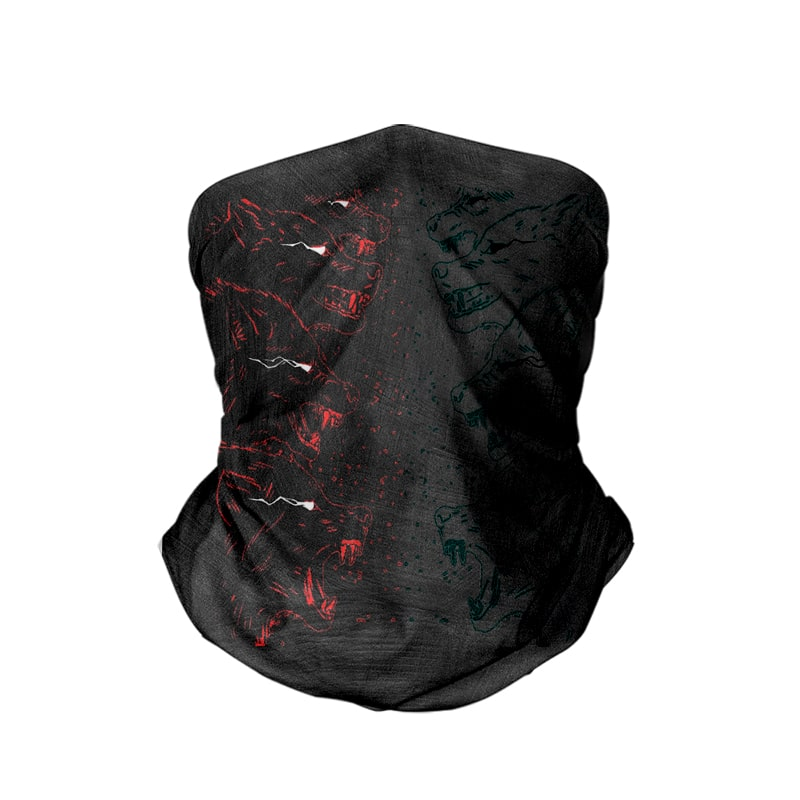 Hell Hounds Self Sketch Brushed Jujutsu Kaisen Neck Gaiter Bandana Scarf