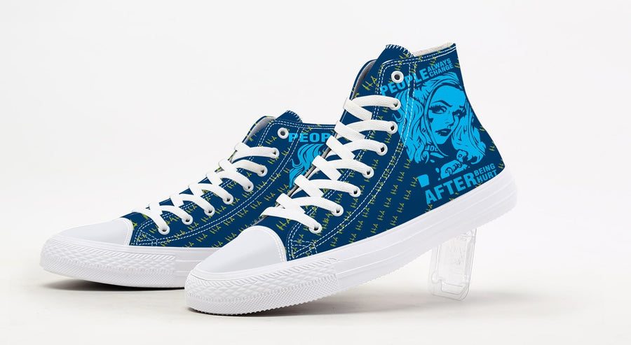 Converse Harley Quin & Joker 3D Printed Shoes