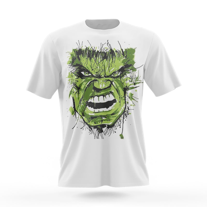 Hulk Green Power Avenger assic 3D Printed T-Shirt