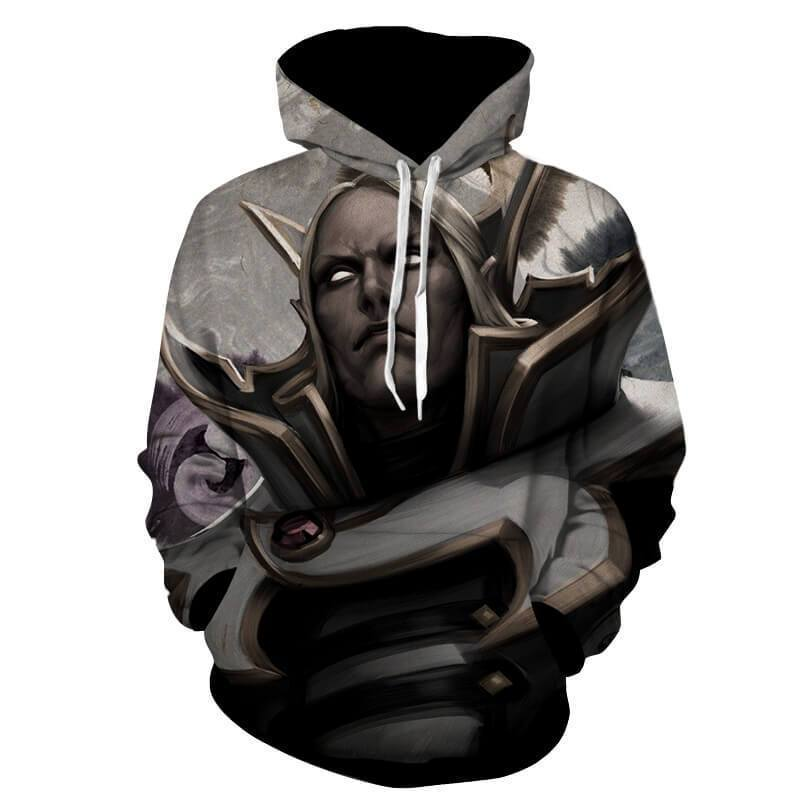 Invoker Black And White 3D Printed Invoker Hoodie