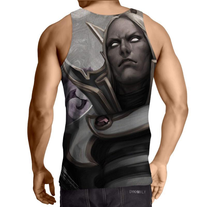 Invoker Black And White 3D Printed Invoker Tank Top - Anime Wise
