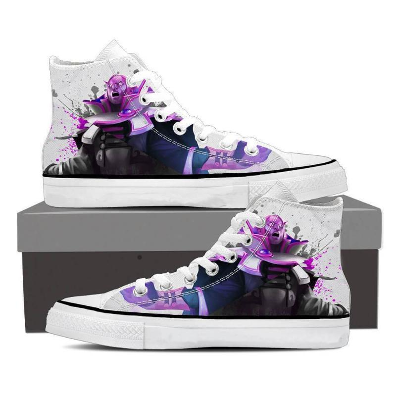 Invoker White Purple Invoker Shoes - Anime Wise