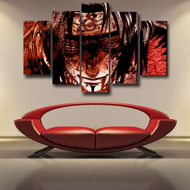 Itachi Uchiha Coldhearted Sad Face Naruto 3D Canvas