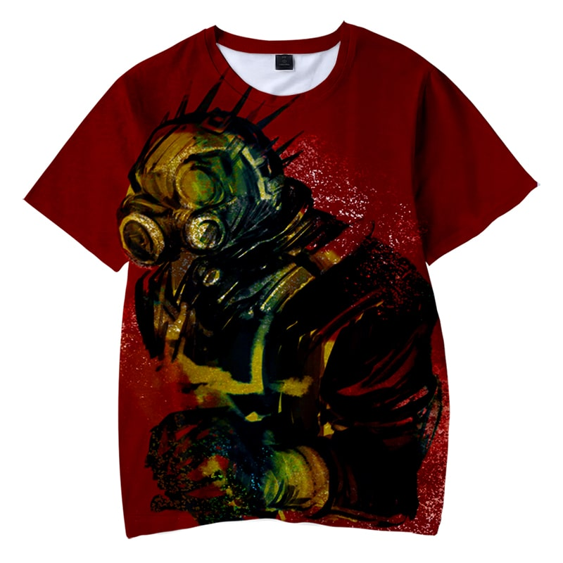 Dorohedoro Kaiman Abstract Art Style Casual Round Collar T-Shirt