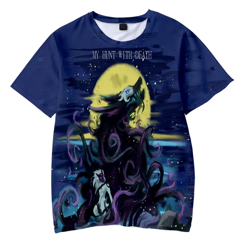 Kindred- My Hunt With Death Art Style League Of Legends T-Shirt