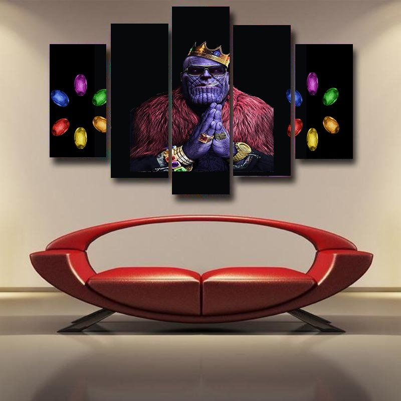 King Thanos Rap Style Infinity Stones Buddha 3D Canvas