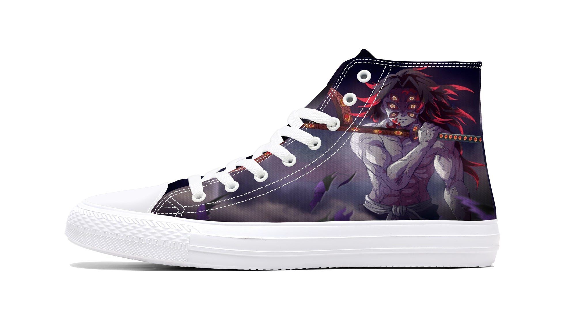 Kokushibou Upper Moon One Samurai Demon Sneaker Demon Slayer Kimetsu No Yaiba Shoes