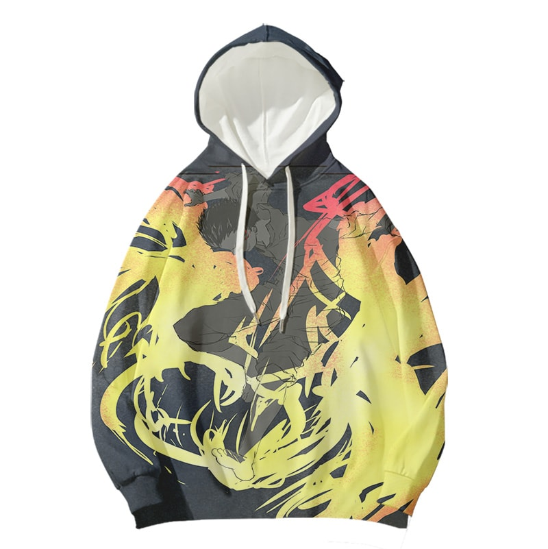 Kusakabe Shinra Inferno Jump Fire Force Pullover Hoodie