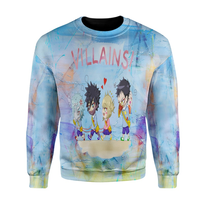 My Hero Academia League Of Villains Color Crossover BNHA Sweatshirt