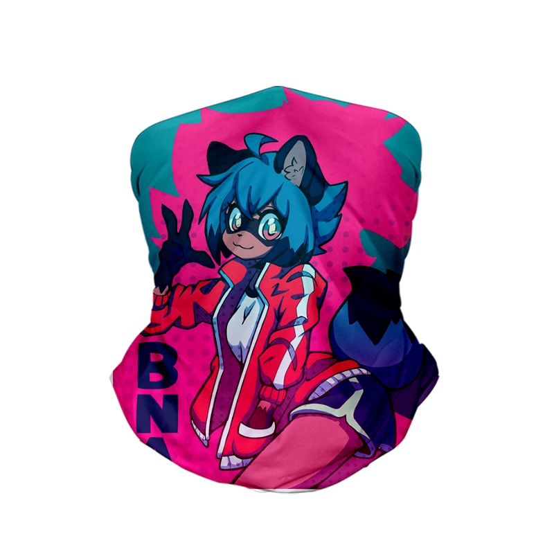 Michiru Glowing Color Overlap Shirou Oogami BNA Neck Gaiter Bandana Scarf