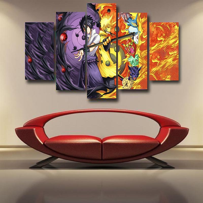 Naruto Sasuke Sage Of Six Path Color Crossover Naruto 3D Canvas