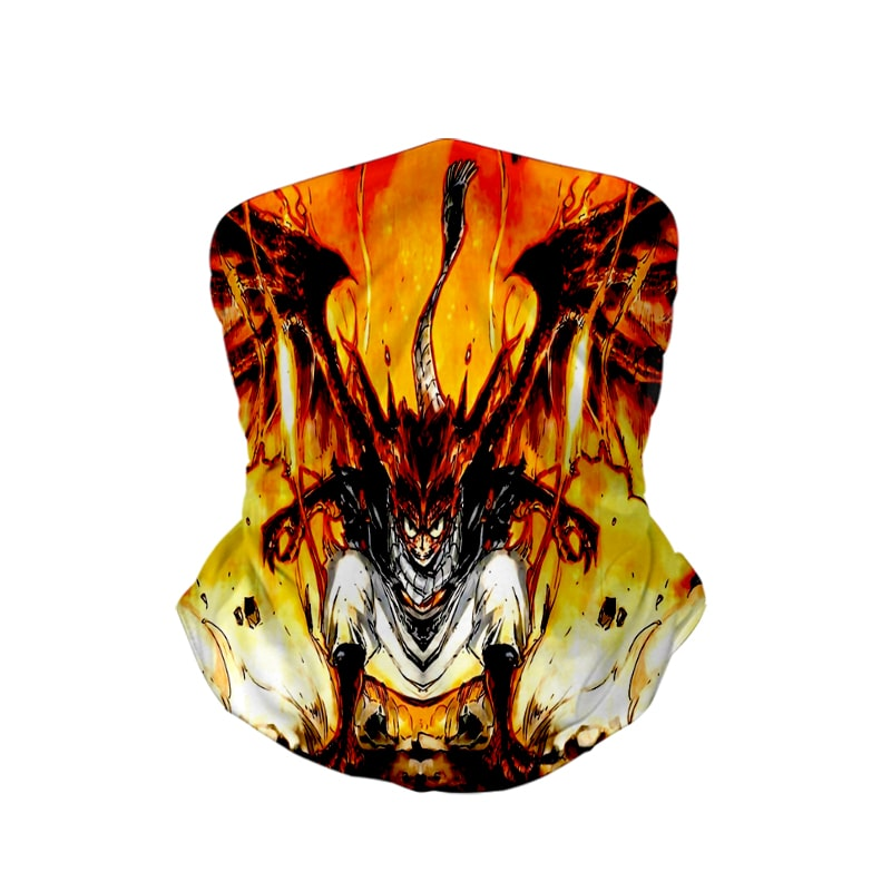 Natsu Dragon Empyrean Blend Fire Fairy Tail Neck Gaiter Bandanna Scarf Fairy Tail Neck Gaiter Bandanna Scarf