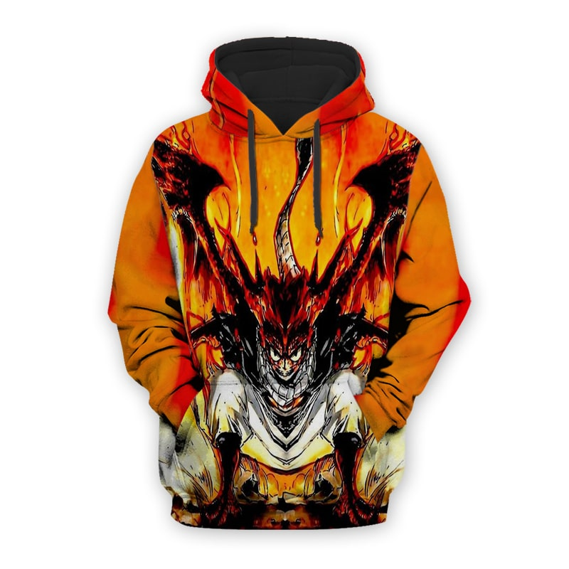 Natsu Dragneel The Fire Dragon Wings Fairy Tail Natsu Hoodie