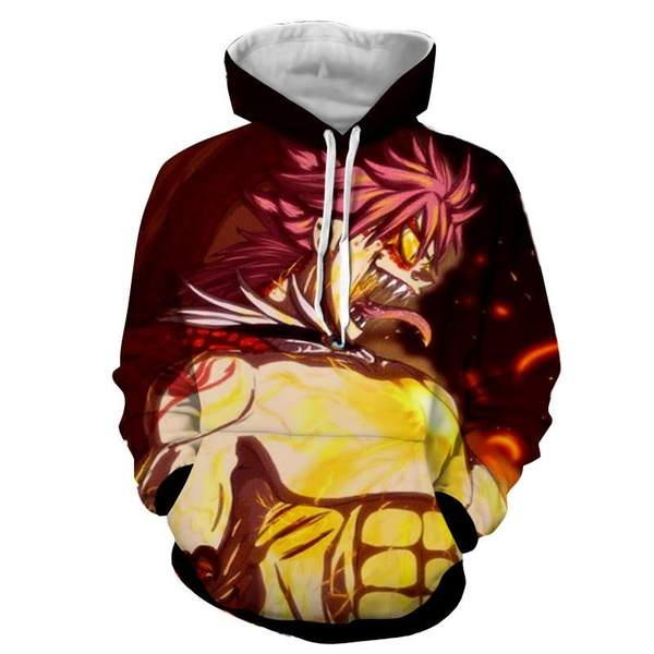 Natsu Son Of Dragon Dragneel Designed Fairy Tail 3D Printed Hoodie